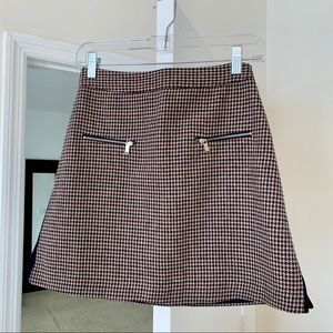 Zara Wool Blend A-Line Mini Skirt